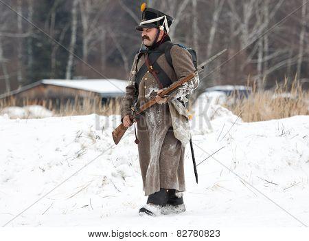 Russian Soldier Walking