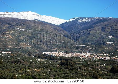 White town and mountains, Orgiva.