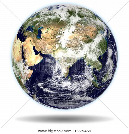 Earth - India And China View