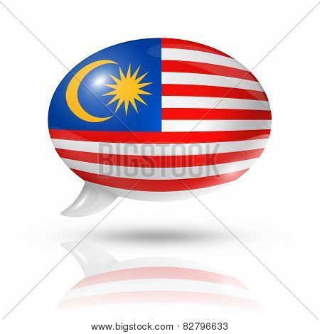 Malaysian Flag Speech Bubble