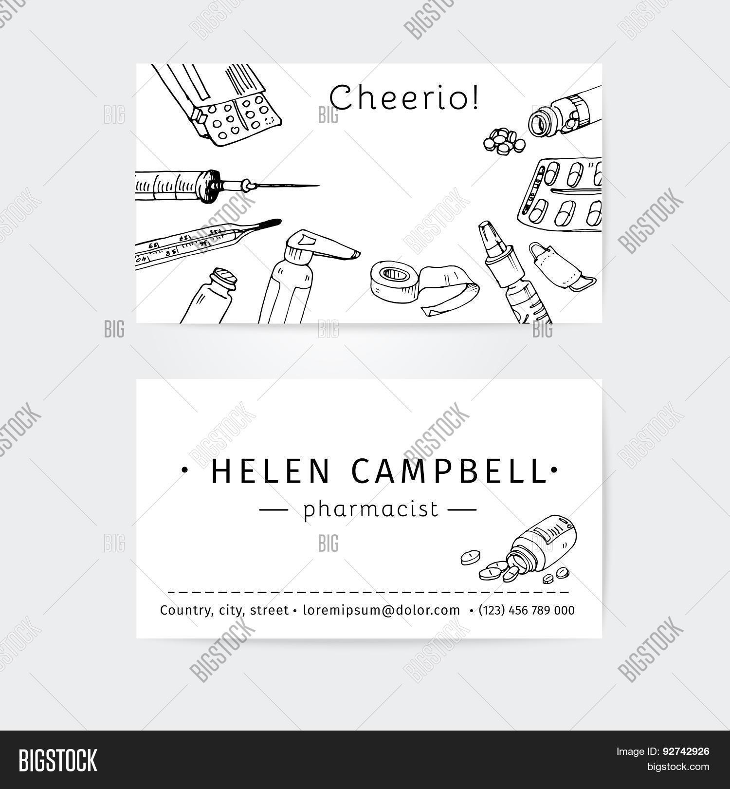 Business Cards Design Template Vector & Photo | Bigstock