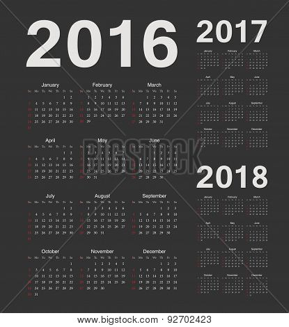 Simple Black European 2016, 2017, 2018