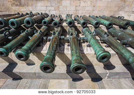Ancient artillery Cannons In The Moscow Kremlin Russia poster