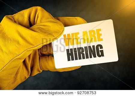 We Are Hiring On Business Card