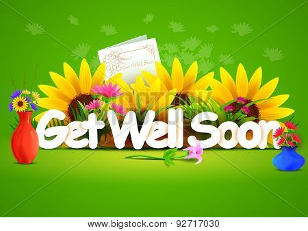 Get well soon wallpaper background
