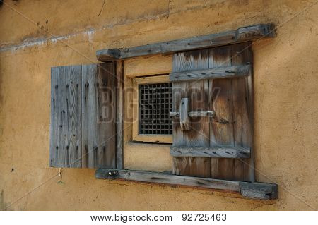 Weathered Wooden Window