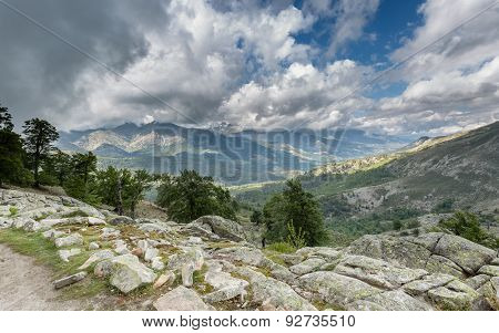 View Across Corsican Mountains From Gr20