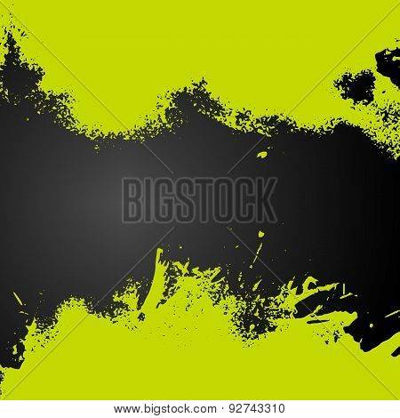 Vector Green Paint Splash Frame Background