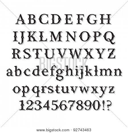 Retro Vintage Style Font set