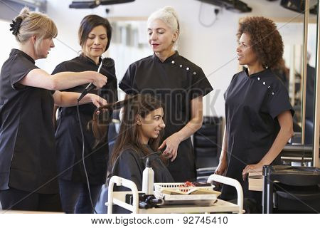 Teacher Training Mature Students In Hairdressing