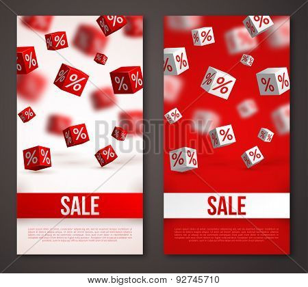 Sale Vertical Banners or Flyers Set.