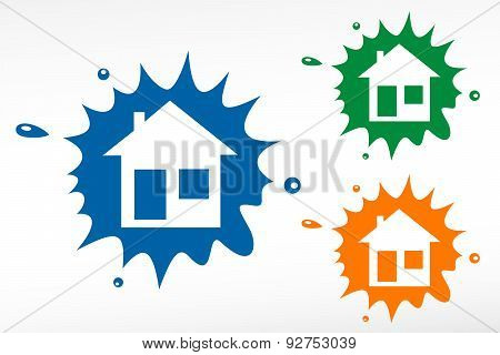 Home Illustration. House Silhouettes