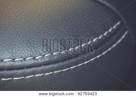 Car Interior Texture Of Seat, Low Depth Of Focus