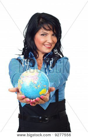 Woman Hands Protect The Planet