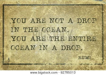 Ocean In Drop Rumi