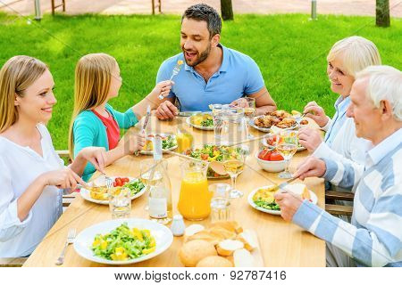Family Dining Together.