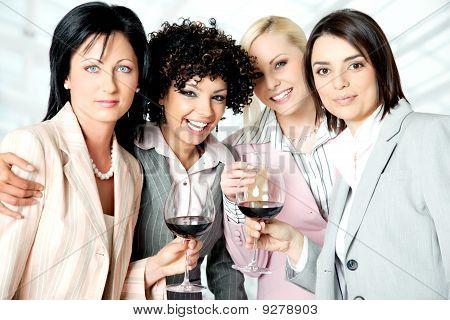 Team Women Celebration