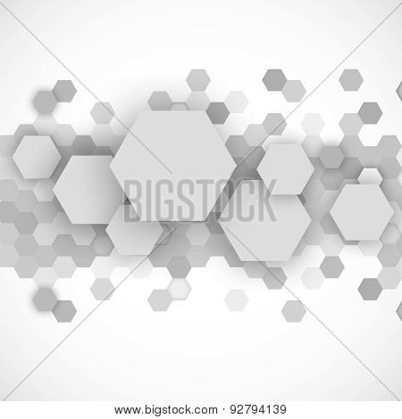 Abstract blue hexagons background