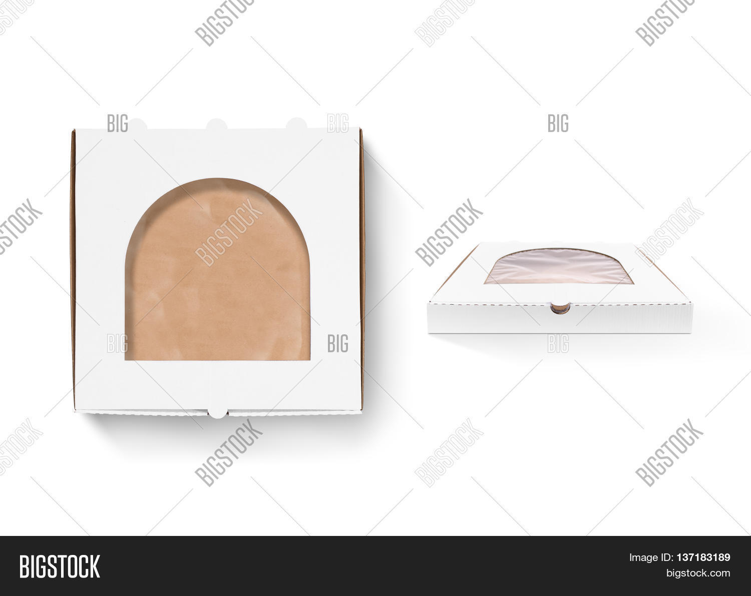 Pizza box design mock up with foil window isolated. Carton packaging box clear mockup.  sc 1 st  Bigstock & Pizza Box Design Mock Image u0026 Photo (Free Trial) | Bigstock