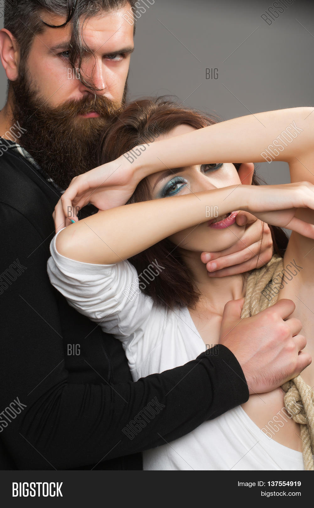 Female breast touching man Enlarged breasts