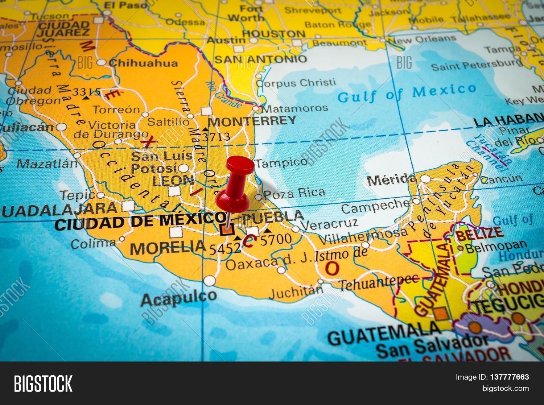 Thumbtack Map Pushpin Pointing Image Photo Bigstock