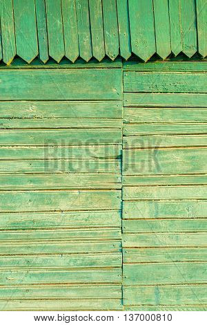 Faded Old Green Wood With Orante Pattern