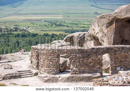 Old cave city Uplistsikhe in Caucasus region Georgia.