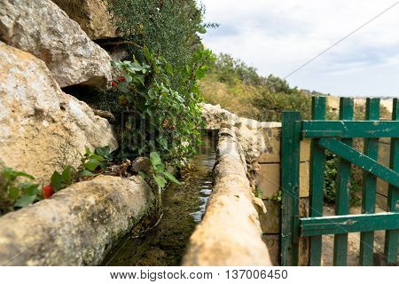 Aquaducts in Lunzjata Valley keep this valley fertile and beautiful