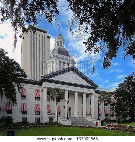 Tallahasse, Florida, USA, December 30, 2013: The State Capitol of Florida in Tallahasse.