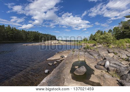 A lake and forest in Algonquin Park