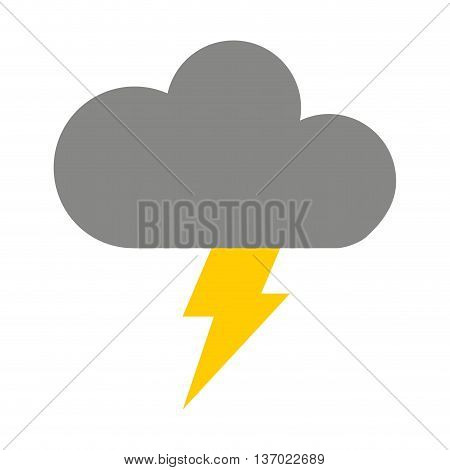 cloud with ray isolated icon design, vector illustration  graphic