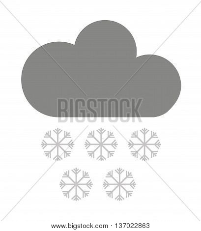 cloud with snowflakes isolated icon design, vector illustration  graphic