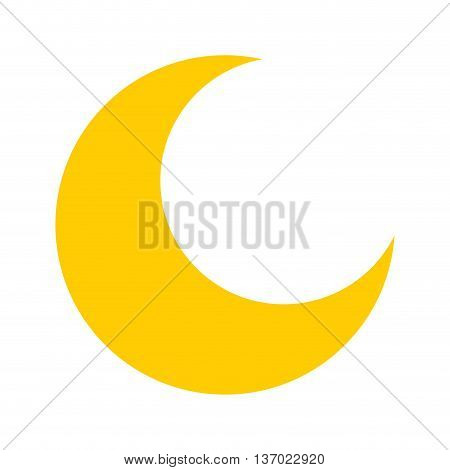 moon isolated icon design, vector illustration  graphic