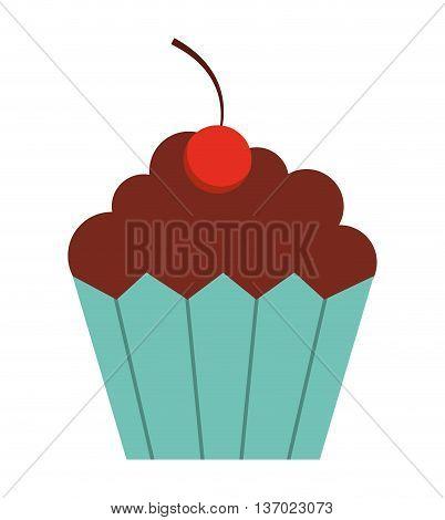 delicious cupcake  isolated icon design, vector illustration  graphic