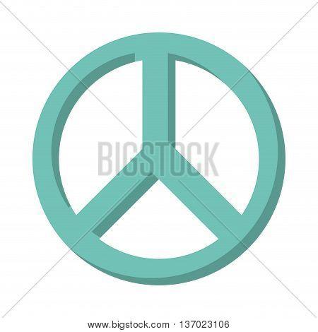 peace symbol isolated icon design, vector illustration  graphic