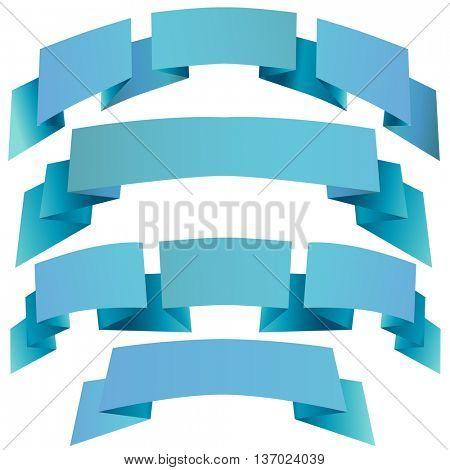 decorative festive ribbons. illustration.