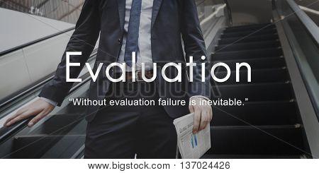 Evaluation Assessment Performance Business Development Concept