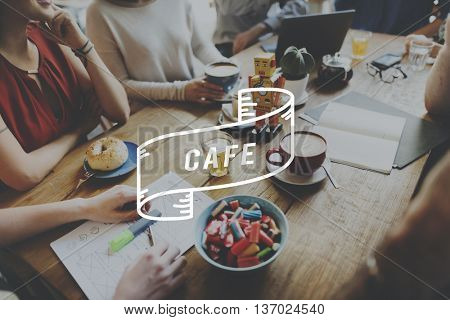 Cafe Cafeteria Food and Beverage Industry Restaurant Concept