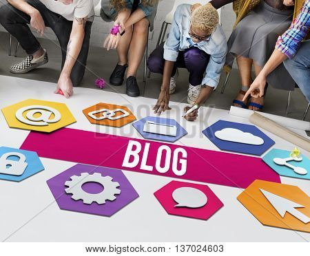 Blog Online People Diversity Graphic Concept