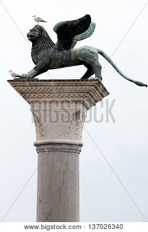 Bronze Statue Of The Lion Of St Mark