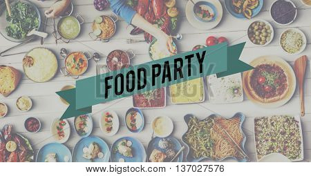 Food Party Food Eating Party Celebration Concept