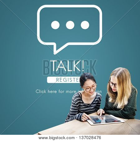Talk Communication Online Conversation Message Concept
