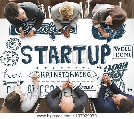 Start up Launch Opportunity Plan Ideas Concept