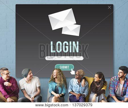 Log-in Enter Join Register Registry Subscribe Concept