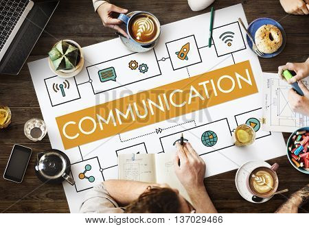Working Team Strategy Communication Concept