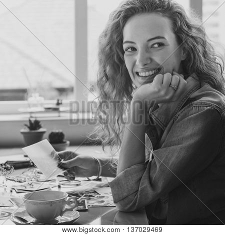 Lady Smiling Natural Photograph Concept