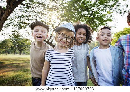 Kids Happiness Fun Smiling Children Concept