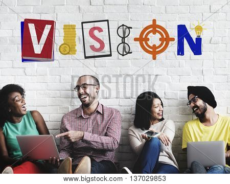 Vision Mission Business Organization Plan Concept