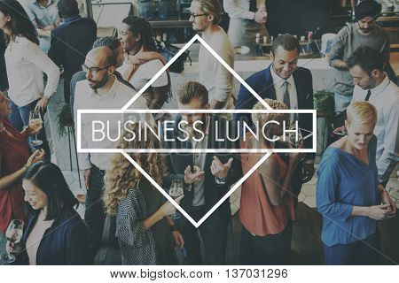 Business Lunch Meal Company Corporate Growth Concept