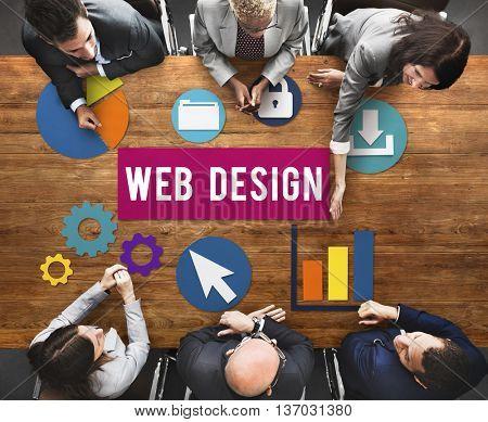 Technology Business Web Design Concept